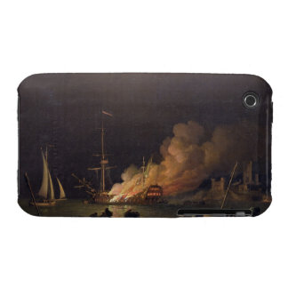 Ship on Fire at Night, c.1756 (oil on canvas) iPhone 3 Case-Mate Case