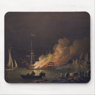 Ship on Fire at Night, c.1756 (oil on canvas) Mouse Pad