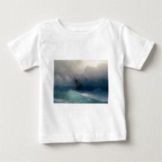 Ship on Stormy Seas, Ivan Aivazovsky - Baby T-Shirt
