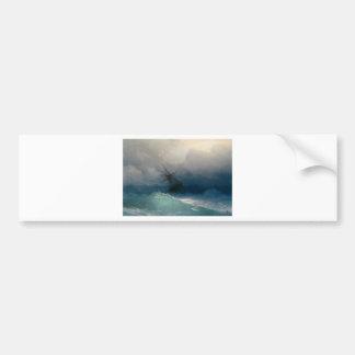 Ship on Stormy Seas, Ivan Aivazovsky Bumper Sticker