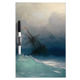 Ship on Stormy Seas, Ivan Aivazovsky - Dry Erase Board
