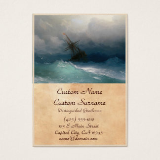 Ship on Stormy Seas Ivan Aivazovsky seascape storm