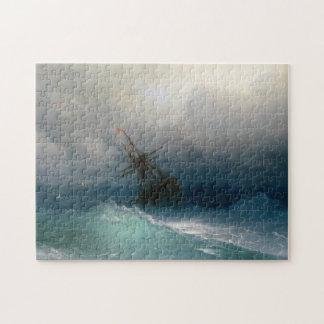 Ship on Stormy Seas Ivan Aivazovsky seascape storm Jigsaw Puzzle
