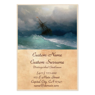 Ship on Stormy Seas Ivan Aivazovsky seascape storm Pack Of Chubby Business Cards