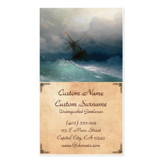 Ship on Stormy Seas Ivan Aivazovsky seascape storm Pack Of Standard Business Cards