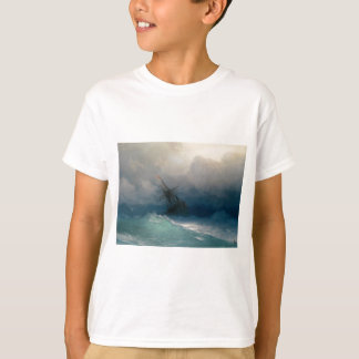 Ship on Stormy Seas, Ivan Aivazovsky T-Shirt