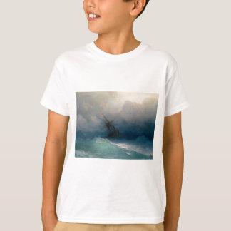 Ship on Stormy Seas, Ivan Aivazovsky - T-Shirt