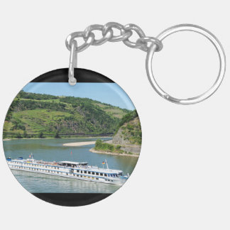 Ship on the Rhine with Oberwesel Key Ring