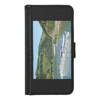 Ship on the Rhine with Oberwesel Samsung Galaxy S5 Wallet Case