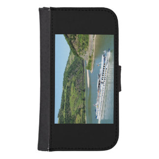 Ship on the Rhine with Oberwesel Samsung S4 Wallet Case