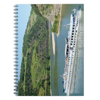 Ship on the Rhine with Oberwesel Spiral Notebook