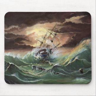 Ship Painting Mouse Pad
