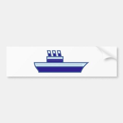 Ship ship bumper sticker
