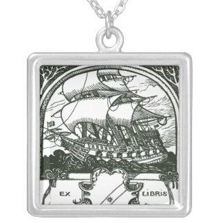 Ship Silver Plated Necklace