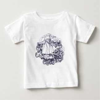 Ship Stuck in the Storm Baby T-Shirt