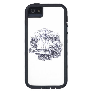 Ship Stuck in the Storm iPhone 5 Case