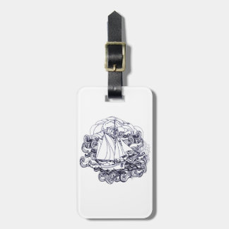 Ship Stuck in the Storm Luggage Tag