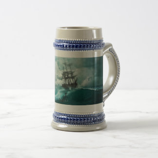 Ship Tossed About On the Ocean, 22 oz Stein