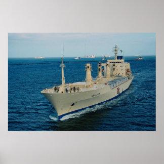 Ship transit Panama Canal Poster