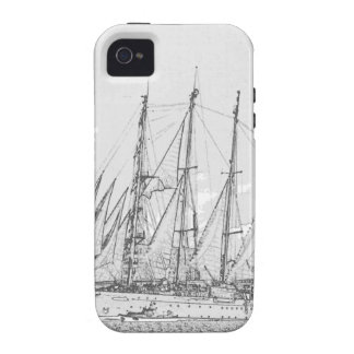 Ship under sail drawing vibe iPhone 4 covers
