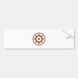 Ship Wheel Bumper Sticker