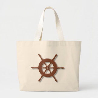 Ship wheel jumbo tote bag