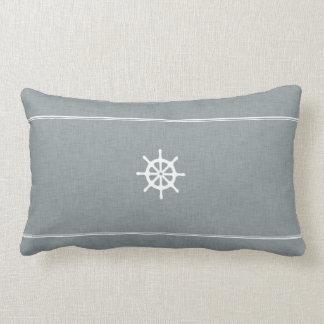 Ship Wheel Lumbar Pillow
