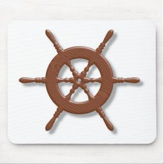 Ship wheel mousepad