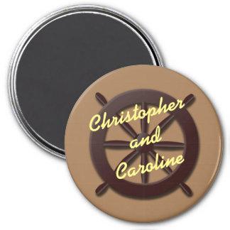Ship Wheel Stateroom Door Marker 7.5 Cm Round Magnet
