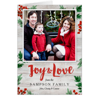 Shiplap Holiday Photo Card