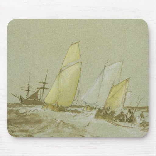 Shipping, c.1828-30 (pen, brush & brown ink, bodyc mouse pads