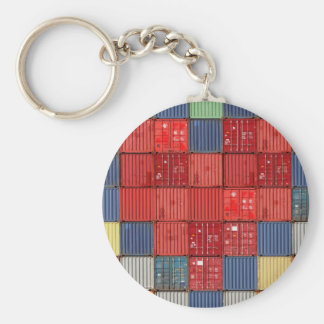 Shipping Container Heart Key Ring