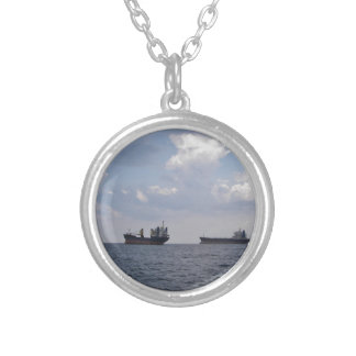 Shipping In The Black Sea Silver Plated Necklace
