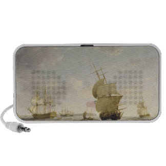 Shipping in the English Channel, c.1755 (oil on ca iPhone Speakers