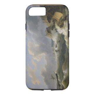Shipping off a Coastline in a Rough Sea (oil on ca iPhone 7 Case
