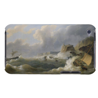 Shipping off a Coastline in a Rough Sea (oil on ca iPod Touch Case-Mate Case
