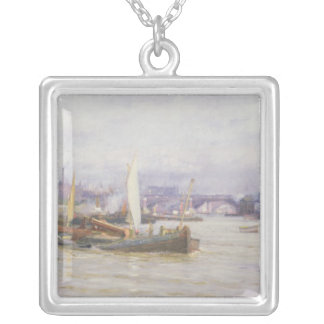 Shipping on the Thames Silver Plated Necklace