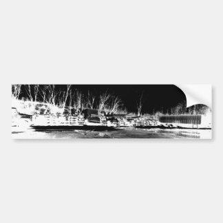 Shipping Yard - negative Bumper Sticker