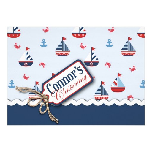 Ships Ahoy! Baptism Card 2B