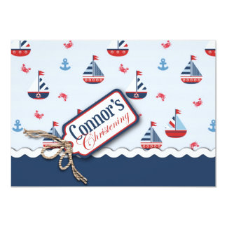 Ships Ahoy! Baptism Card 2B Custom Invites