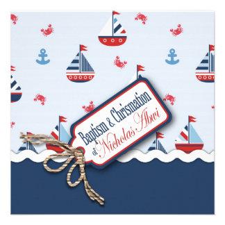 Ships Ahoy Baptism Square C Invites