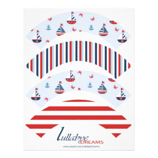 Ships Ahoy! Cupcake Wrappers 21.5 Cm X 28 Cm Flyer