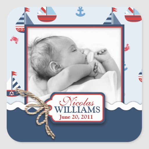 Ships Ahoy! Photo Square Sticker