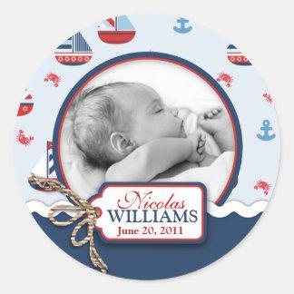 Ships Ahoy Photo Sticker