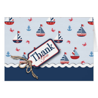 Ships Ahoy TY Card