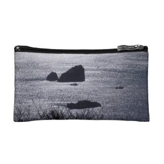 Ships Among Rocks in Trinidad, CA - Cosmetic Bag