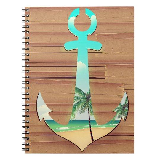 Ships Anchor in a board walk Notebook