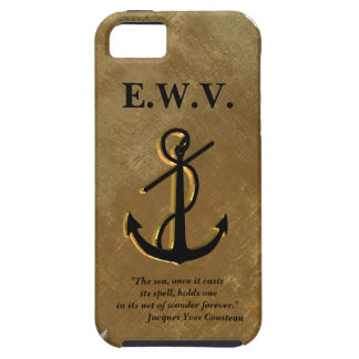 Ships anchor on parchment Iphone 5 case