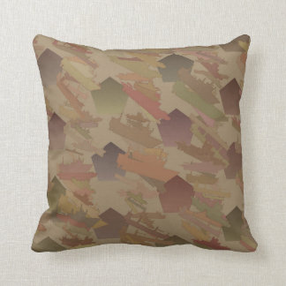 Ships and Pentagons Cotton Reversible Pillow