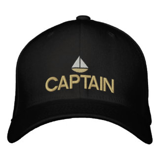 Ships Captain Embroidered Hat